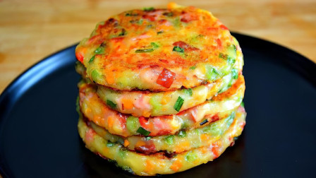 土豆饼最简单好吃的做法,不用面粉,我家隔三差五做一回,太香了