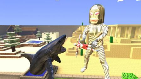 GMOD游戏怪兽把初代奥特曼扔到井里喂鲨鱼怎么办?