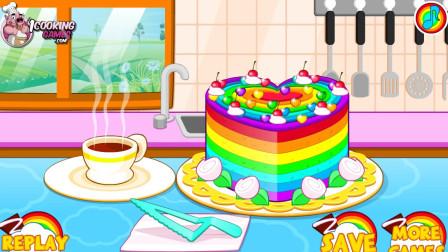 五颜六色的蛋糕小游戏试玩 江哥哥解说