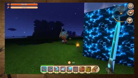 迷你世界:玩家夜晚手拿装备大战野人,就是这么任性!