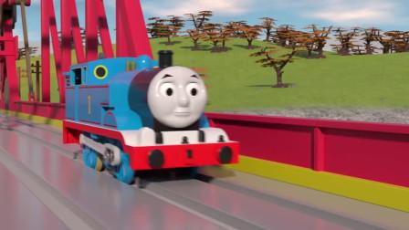 儿童火车玩具:托马斯运货撞到汽车了