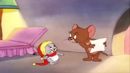 猫和老鼠:老鼠趁汤姆猫睡着,带着弟弟来喝奶,刺激了!