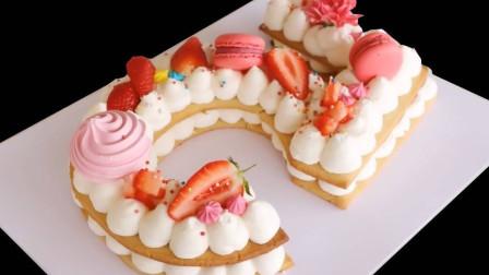 香甜的水果奶油蛋糕亲手做,蛋糕胚子无油无奶,营养美味更健康