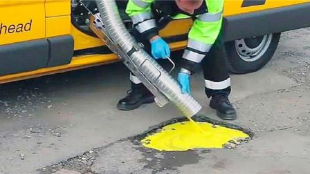 """国外发明最新""""创可贴"""",一个工人一天修一条马路,网友:太给力"""
