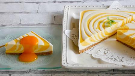 简约的芒果奶油蛋糕,不用烤箱就能搞定