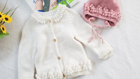 毛儿手作南瓜团婴儿套装儿童毛衣帽子棒针钩针新手零基础视频花样图片