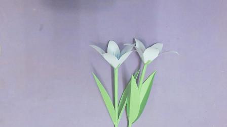 漂亮纸花的简单做法,手工难度1颗星,适合新手学习!