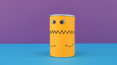 生活小妙招,用薯片盒制作收纳桶的方法,简单几招就学会了!