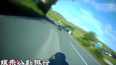 速度超快的曼岛TT摩托车比赛,坐在车上感觉不怕晕吗