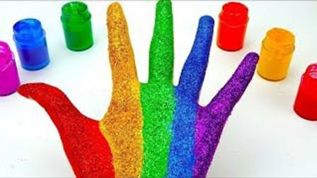 趣味过家家亲子游戏,早教启蒙认知萌宝给小手着色学习颜色啦!
