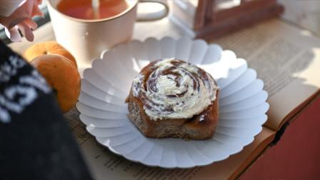 我的日常料理 第二季 超详细步骤教你制作秋季最经典的甜品:黑麦粉肉桂卷