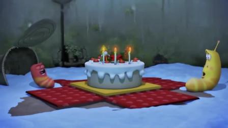 爆笑虫子:俩虫子在圣诞节收到神秘蛋糕,简直不敢相信自己的眼睛