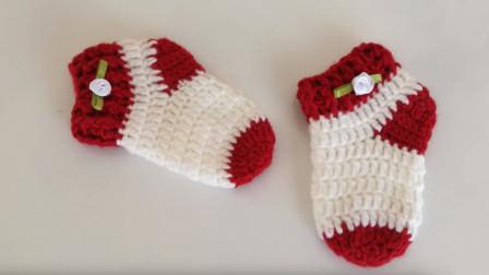 为宝宝钩一双舒适的暖袜,一款婴儿袜教程,准妈妈学起来哦(中)