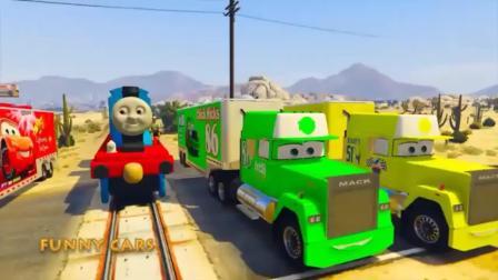 GTA5:半挂车和托拉斯火车在行驶!