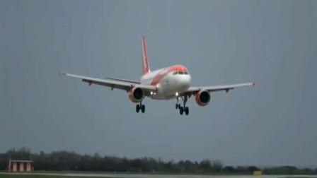 实拍客机降落过程,如此轻的着陆,真不多见!