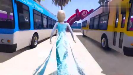 GTA5:驾驶大巴士在行驶,认识颜色!