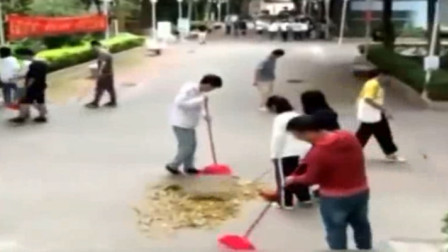 广州一高校将扫地设成必修课:修满学分才能毕业