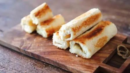 1根香蕉,2片奶酪,教你一种早餐新做法,香甜酥脆,吃多也不长胖