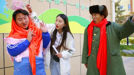 学校要求分享周末的时光,不料学霸男扮女装表演,太逗了