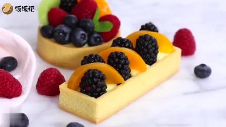 甜品水果小蛋糕,既有水果的香甜可口,还有蛋糕的润滑口感