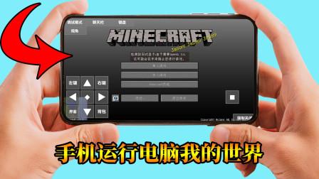 我的世界:教你怎样在手机上玩电脑版MC,五个版本都能玩!