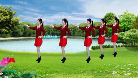 32步广场舞《玫瑰花儿开》动感舞曲 简单易学舞步