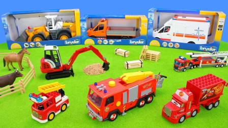 最新工程车4+挖掘机+儿童玩具+大卡车
