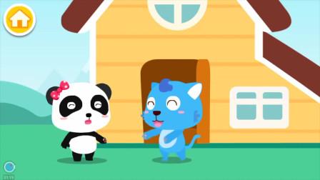 妙妙告诉蓝宝你要洗手哦,不然有细菌的,宝宝巴士游戏