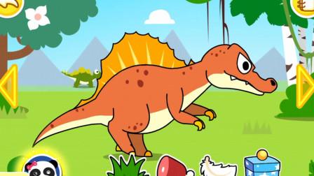 妙妙带着食物给恐龙,太棒了,宝宝巴士游戏