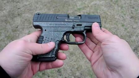 小巧玲珑的瓦尔特PPS半自动手枪,弹匣供弹进行靶场射击评测!