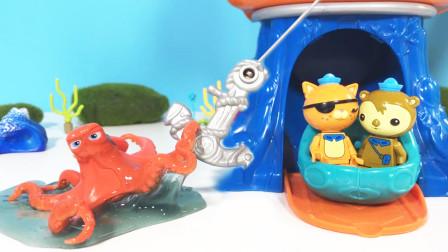 海底小纵队放下大船锚拖救大章鱼,谢灵通救助误吞塑料的大白鲸,他们能成功吗?