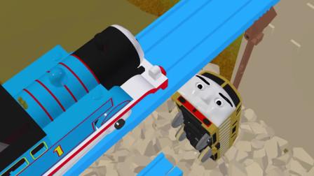 儿童玩具火车:托马斯朋友蒂莫西跌落山沟