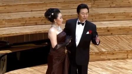 张小佳与著名男高音歌唱家丁毅同台演唱轻歌剧风流寡妇