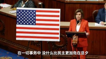 美众议院通过总统弹劾议案 佩洛西:我们的民主危在旦夕