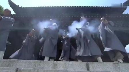 五号特工组:汉奸包围少林寺,想灭门,不料僧人们人手一把冲锋枪