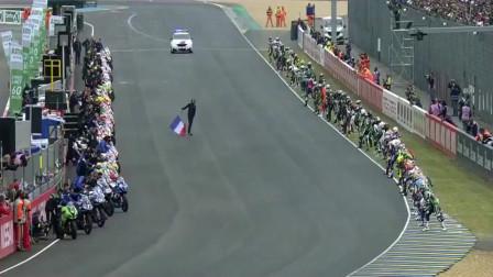 摩托车比赛开场比的竟是跑步