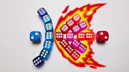 红与蓝的超燃对决,原来骰子也可以这么有趣