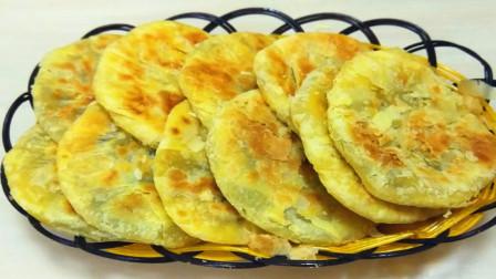 芝麻酥油饼家常做法,不用烫面,香甜酥脆直掉渣,凉了也不硬