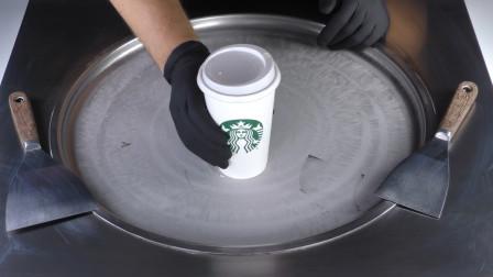 这一定是我见过最提神醒脑的炒酸奶了!用星巴克咖啡来炒,厉害了