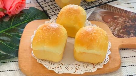老公吃早餐不知道吃什么,做奶香小面包给他,1次吃了6个