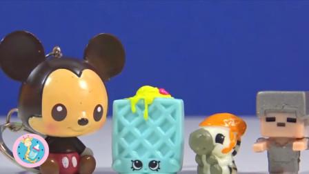 迪士尼米奇邀斑马吃冰淇淋 拆彩泥奇趣蛋积木机器人玩具