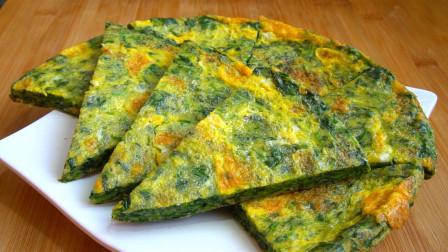 天冷了要多吃菠菜,加3个鸡蛋简单一做,营养美味,当早餐也不错