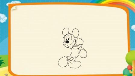 儿童简笔画学习 第一季 卡通米老鼠和唐老鸭简笔画