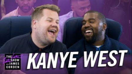【中字】Kanye West坎爷的空中K歌房ft.詹姆斯•柯登 部分精彩片段