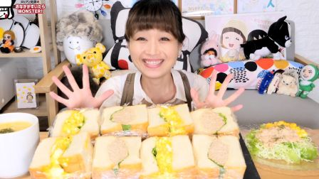 【俄罗斯佐藤】面包4斤!巨厚软软鸡蛋三明治&金枪鱼蛋黄酱三明治【191011】