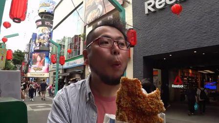【啤酒怪】在台湾街头吃豪大大鸡排和臭豆腐~