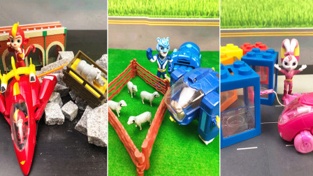 天天趣玩亲子玩具 第一季 彩虹机车清理道路障碍宇宙护卫队玩具