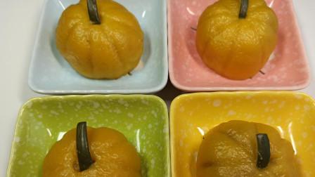 """南瓜恋上紫薯,又变成了""""小南瓜"""",粗粮细做,香甜软糯值得一试"""