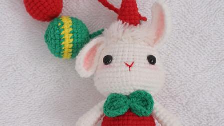 胖丫手作 第184集 圣诞兔子钩织教程