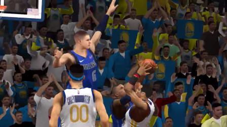 NBA2K20手机版小崔 生涯模式:勇士VS独行侠!小崔强行逆转战局!波神东契奇组合激活!小崔空砍30+!